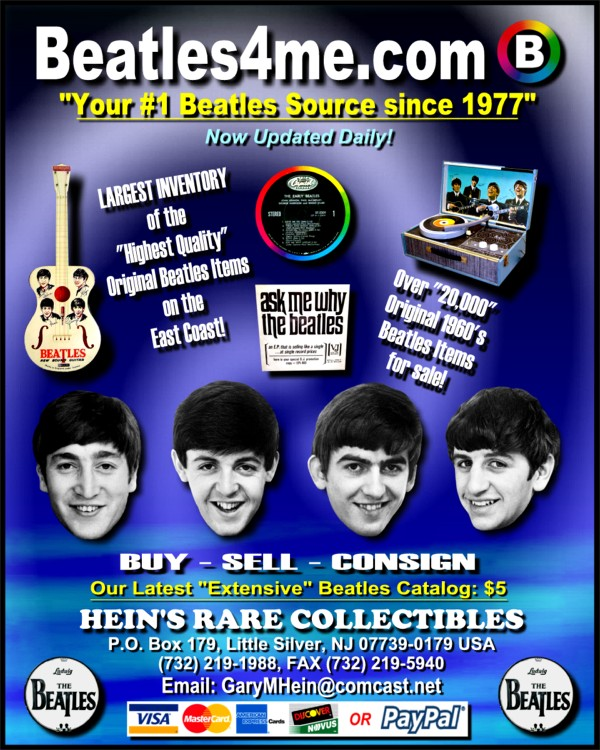 Beatles EPs available on our website.  Click here to view!